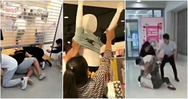 """【動画】中国のユニクロ、客が商品を奪い合い""""地 獄 絵 図""""にwwwwwwwwwwwwのサムネイル画像"""