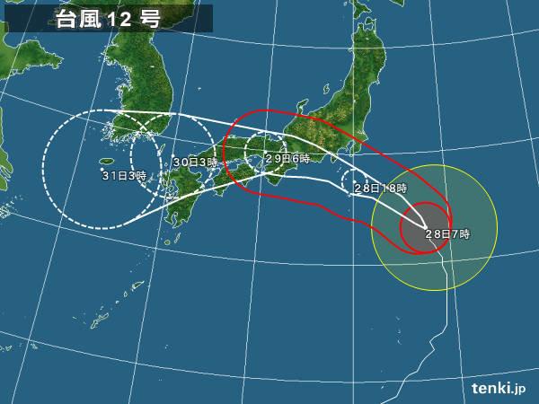 【台風12号】静岡県, 愛知県, 三重県がヤバい・・・・・のサムネイル画像