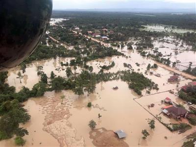 【衝撃】ラオスのダム決壊、水田の被害面積が途方もない件・・・・・のサムネイル画像