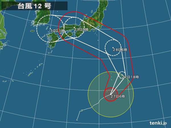 【悲報】台風12号さんの進路、「観測史上初」の模様wwwwwwwwwwwww のサムネイル画像
