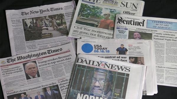 【衝撃】全米350紙がトランプ大統領を一斉に批判!!!→ トランプの反応がwwwwwwwwwwwwwのサムネイル画像
