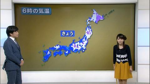 【画像あり】気象予報士・岡村真美子さん(29)の髪型が萌え萌え 横にくるくるってなってるのサムネイル画像