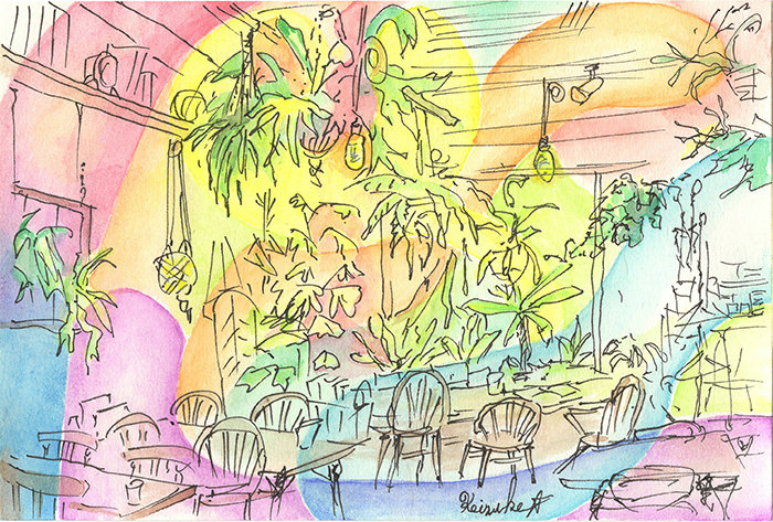 Green Planet Cafe グリーンプラネットカフェの植物のドリーミング