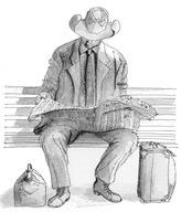 190114_A man waiting for a train