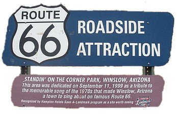 route 66 roadside attraction  winslow arizona