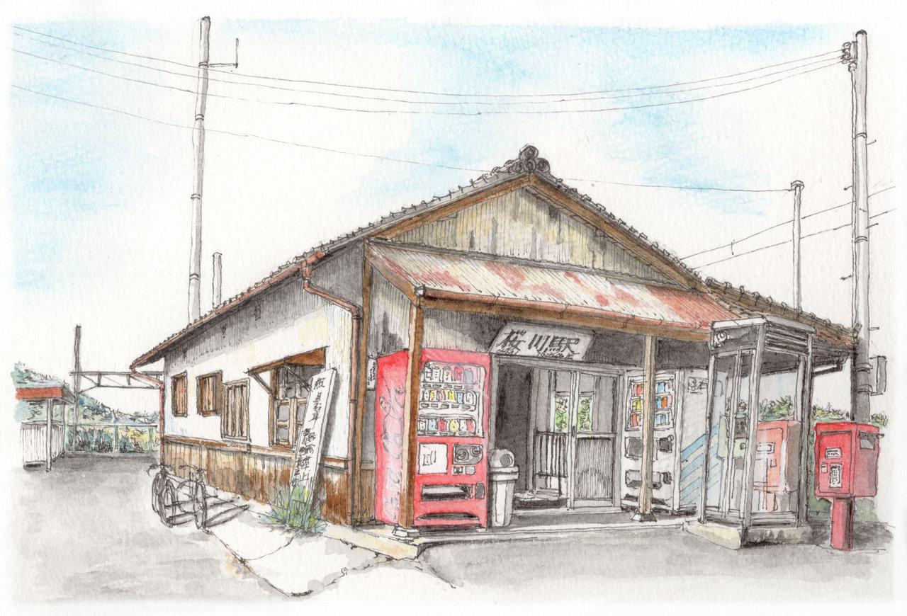 181104_近江鉄道桜川駅駅舎_2