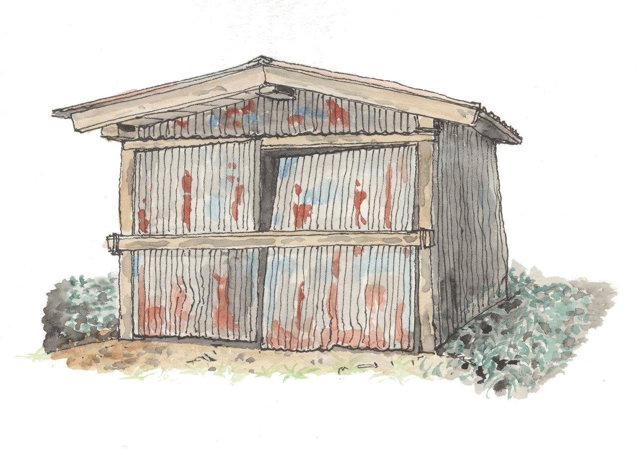 散歩の途中 廃小屋2
