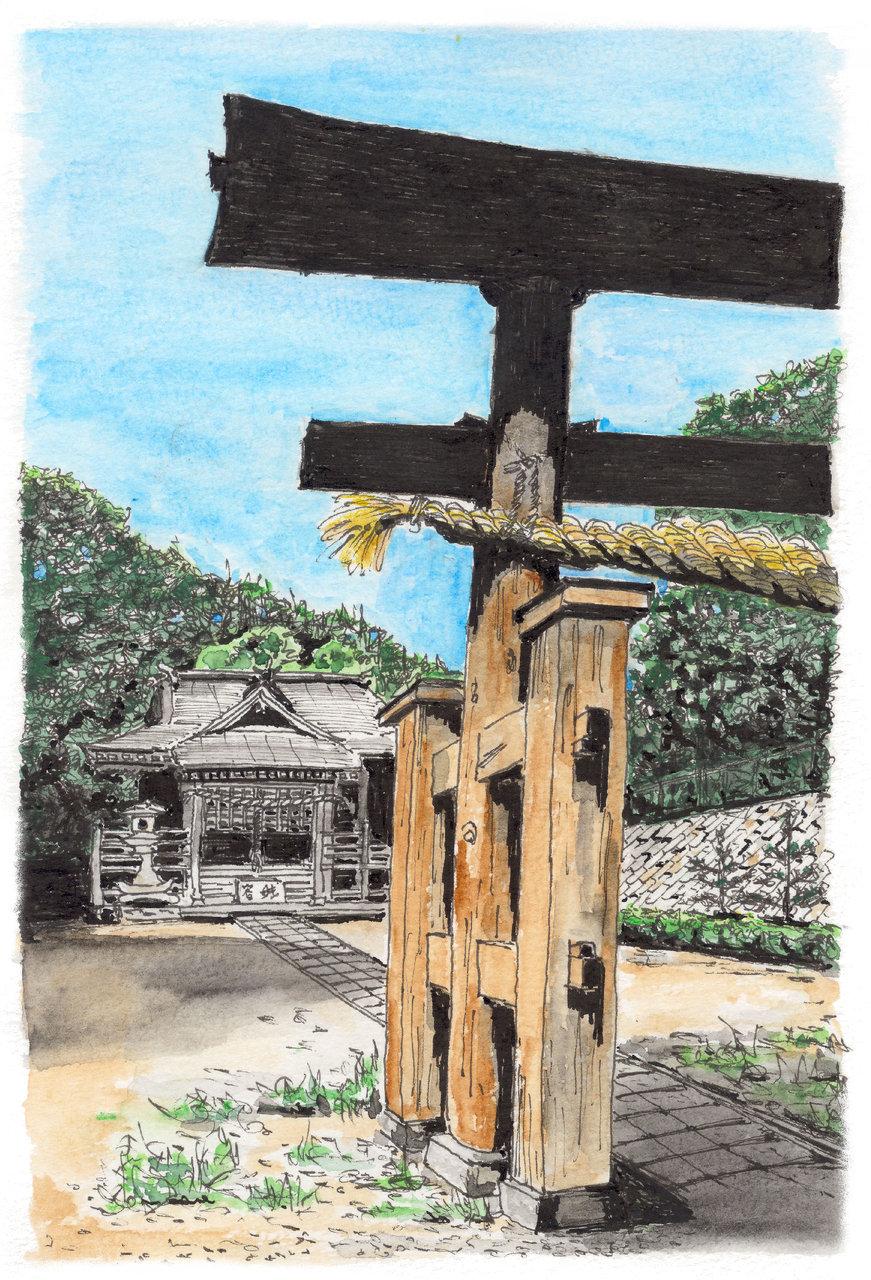 多摩境札次神社