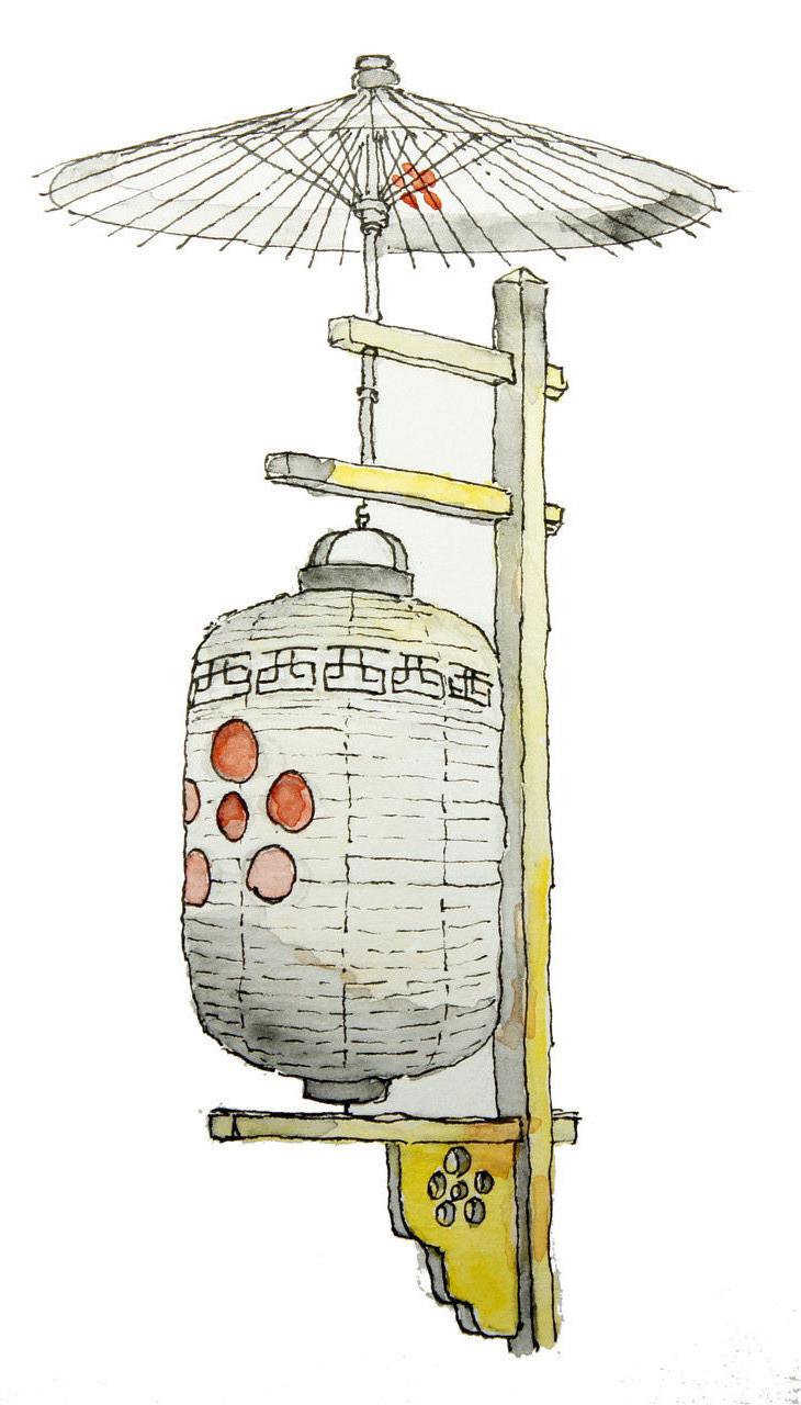 西田氏上野宅提灯
