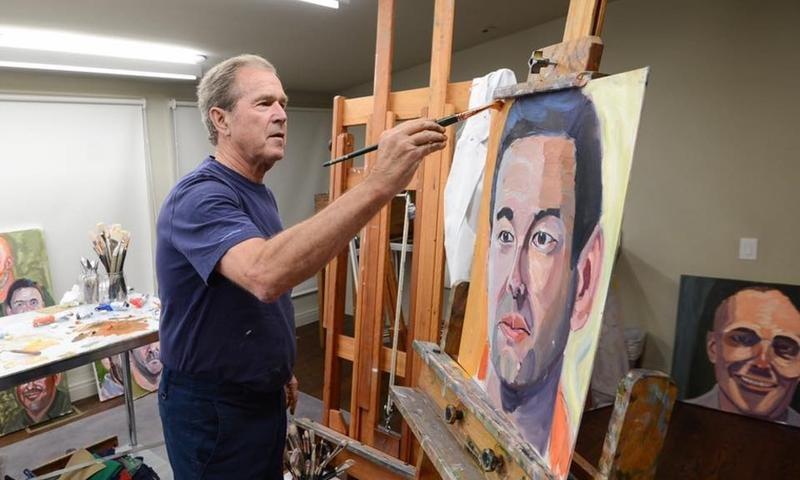 gwbush-painting