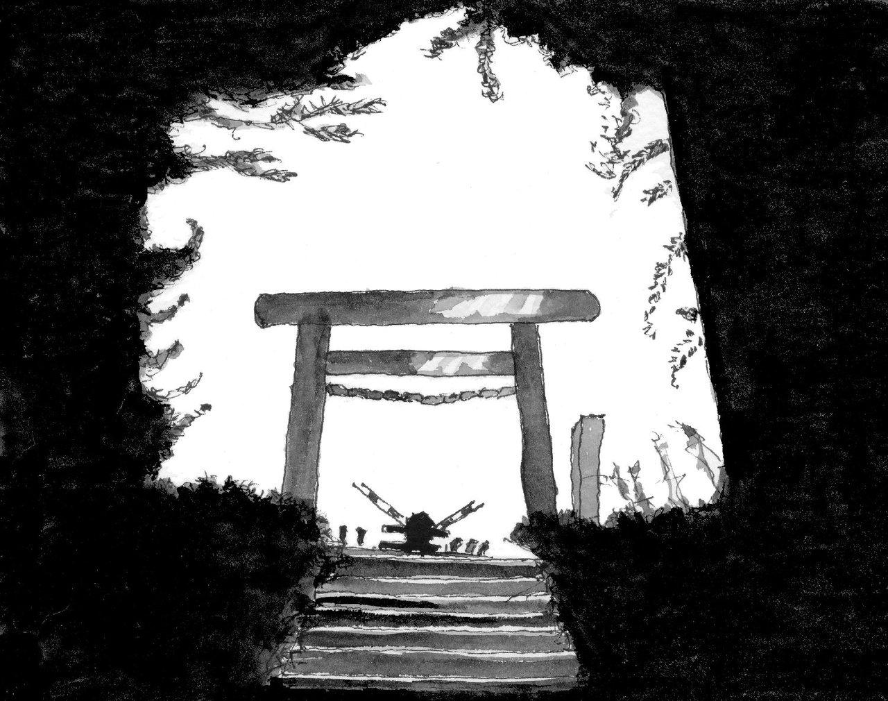 早朝の神明神社