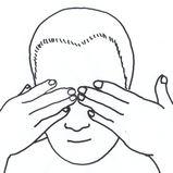 目の疲れ 頭蓋骨のマッサージ 2