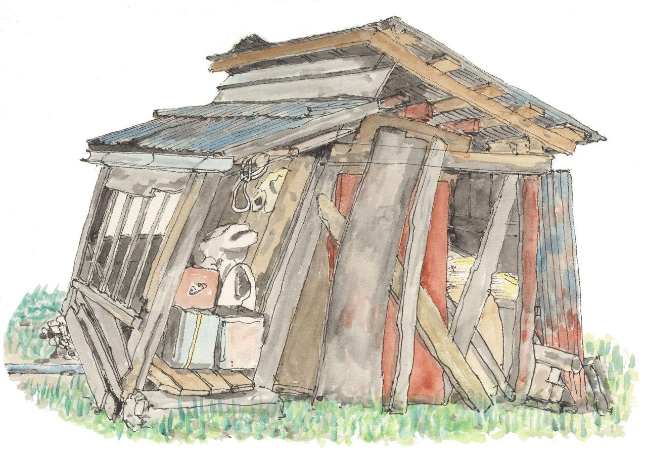 散歩の途中 廃小屋1