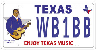 Enjoy Texas Music license plate