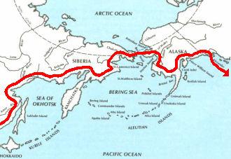 sibera alaska map