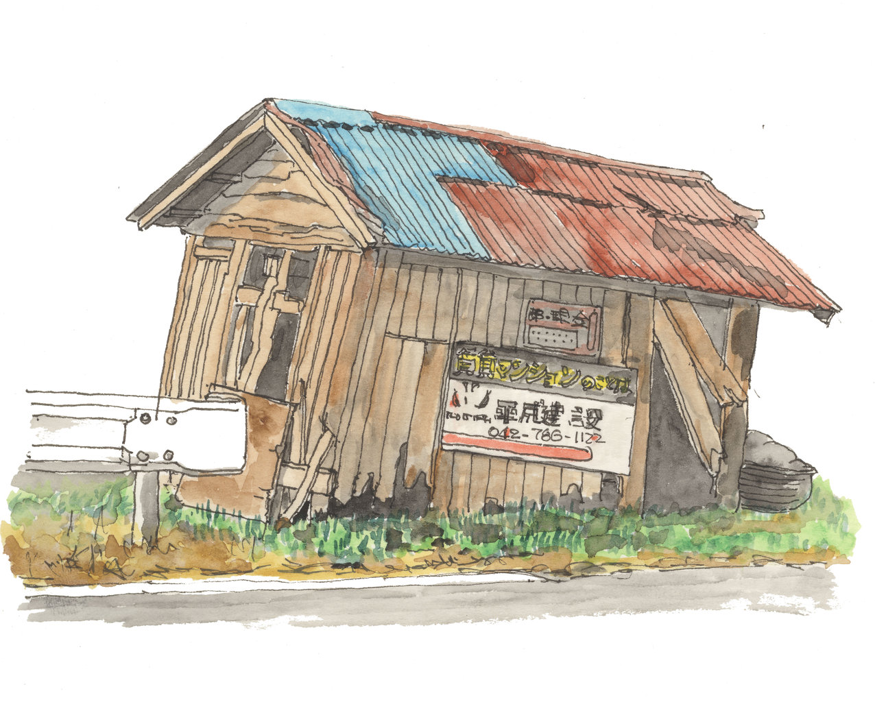 散歩の途中 廃小屋3_130617