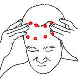 目の疲れ 頭蓋骨のマッサージ 3