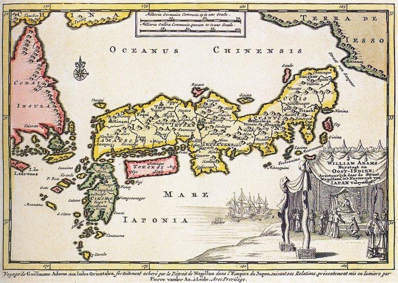William_Adams_1707_map_of_Japan