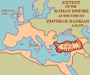 ローマ帝国領 トルコの位置