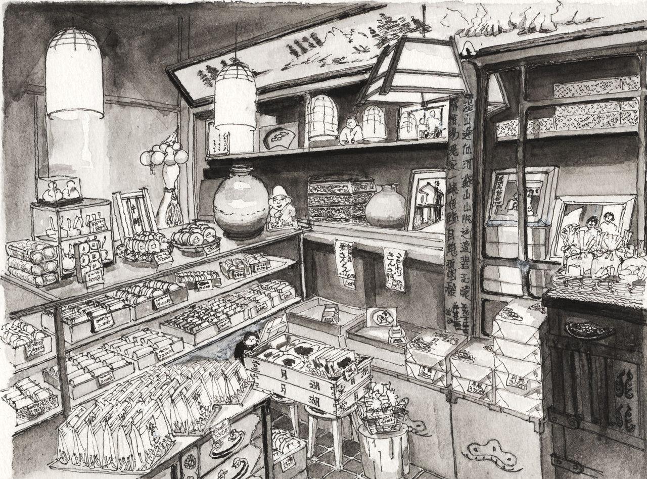 181207_上野湖月堂店内