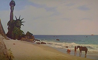Last scene of the planet of the apes