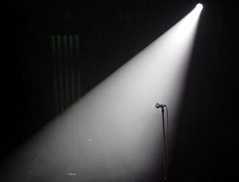 on stage in the spot light 2