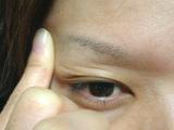 二重まぶた自力形成指マッサージ3