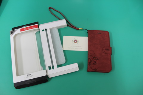 SMART COVER NOTEBOOK for iPhone7 ワインレッド