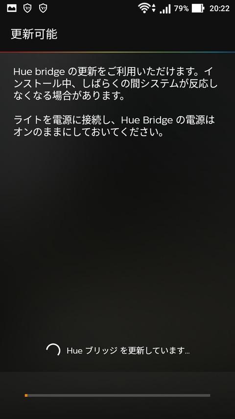 ブリッジ更新中