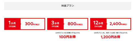 Nintendo Switch Online 料金プラン