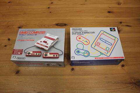 ニンテンドークラシックミニ スーパーファミコン 箱比較