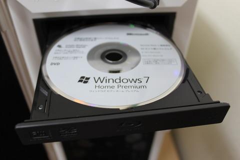 Windows7をインストール