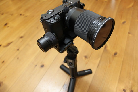 LブラケットでG6max+α6400+SIGMA16mm+NDフィルター