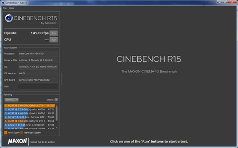 CINEBENCH OpenGL