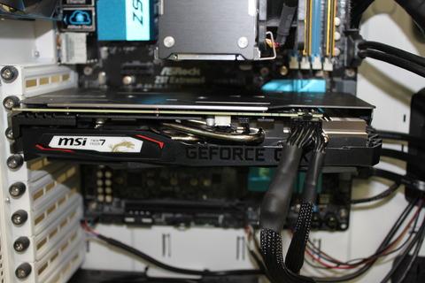 MSI GeForce GTX 1660 Ti GAMING X 6G 装着