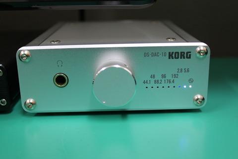 DS-DAC-10 DSD5.6MHz アップサンプリングランプ表示