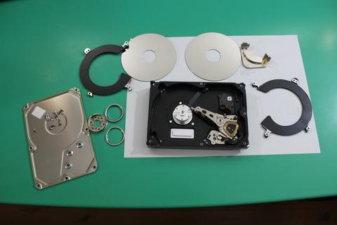 ハードディスク分解 廃棄