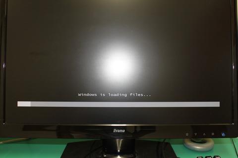 Windows7インストールロード中