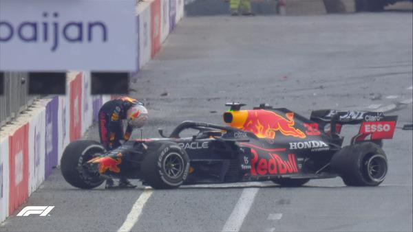 フェルスタッペン、クラッシュ:2021年F1アゼルバイジャンGP