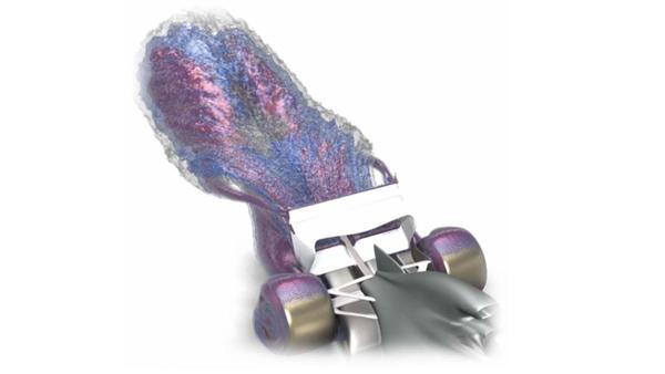 F1の2022年規約の目的は、後流を吸い込んで後続マシンの上に導くことである