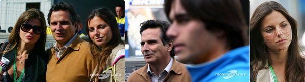 ネルソン・ピケ・ファミリー(ピケ、奥さん、ジュニア、ケリー):2006年F1ブラジルGP