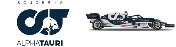 アルファタウリ・ホンダF1チーム・ロゴとアルファタウリ・ホンダAT02
