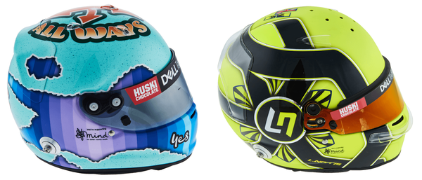 ダニエル・リチャルドとランド・ノリスのヘルメット(マクラーレン)2021年F1