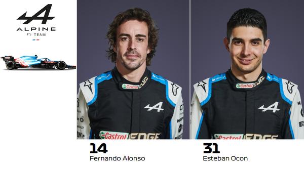 フェルナンド・アロンソ、エステバン・オコン:アルピーヌF1チーム Alpine F1 Team
