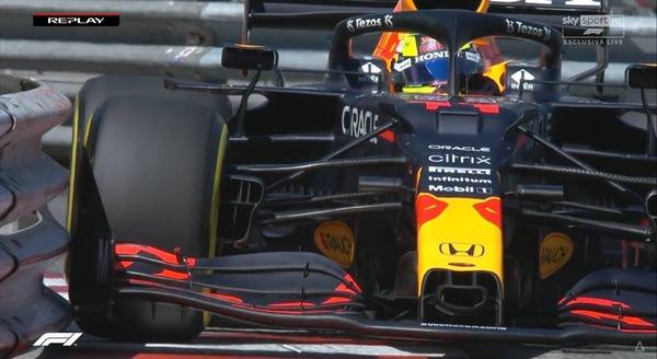 フェルスタッペン、障壁に接触:2021年F1モナコGP