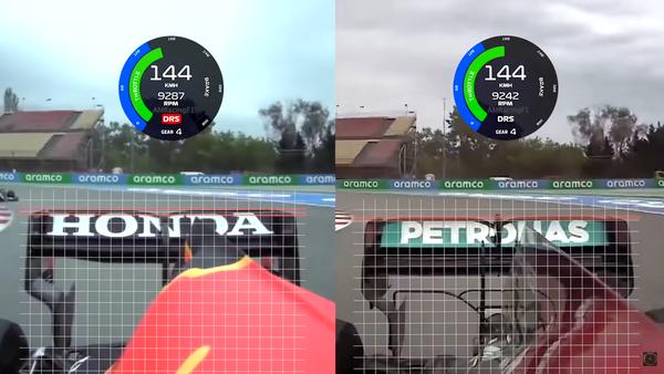 レッドブル・ホンダとメルセデスのリアウィング比較:2021年F1スペインGP予選