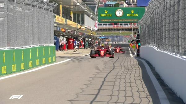 2021年ロシアGP FP1スタート