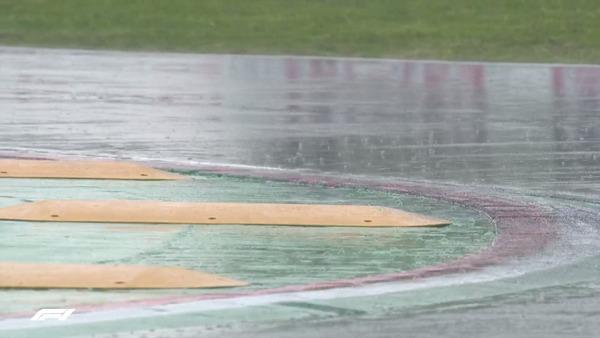 コースの一部で強い雨が降っている:2021年F1エミリア・ロマーニャGP