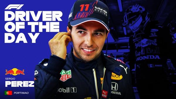 セルジオ・ペレス(レッドブル・ホンダ)ドライバー・オブ・ザ・デイ、2021年F1ポルトガルGP