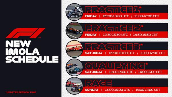 レースのスケジュール変更:2021年F1エミリア・ロマーニャGP